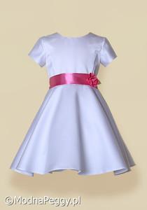 e3c3e09592 Biała sukienka dla dziewczynki Modna Peggy