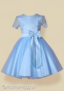 358f5ffcd5 Błękitna sukienka dla dziewczynki Modna Peggy