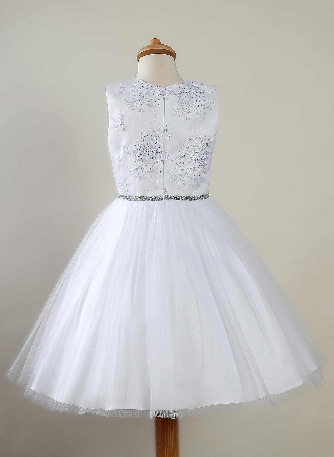 79e366ca1b Biała sukienka dla dziewczynki Modna Peggy