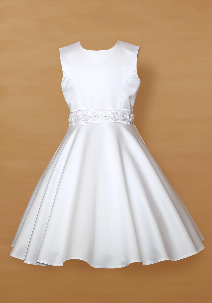 629765702f Biała sukienka dla dziewczynki. SUKIENKI DZIEWCZĘCE