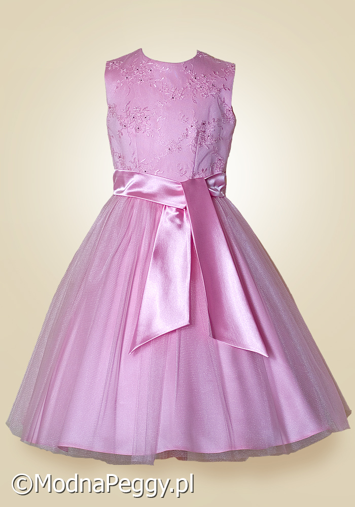 308538d336 Sukienka dla dziewczynki na wesele Modna Peggy